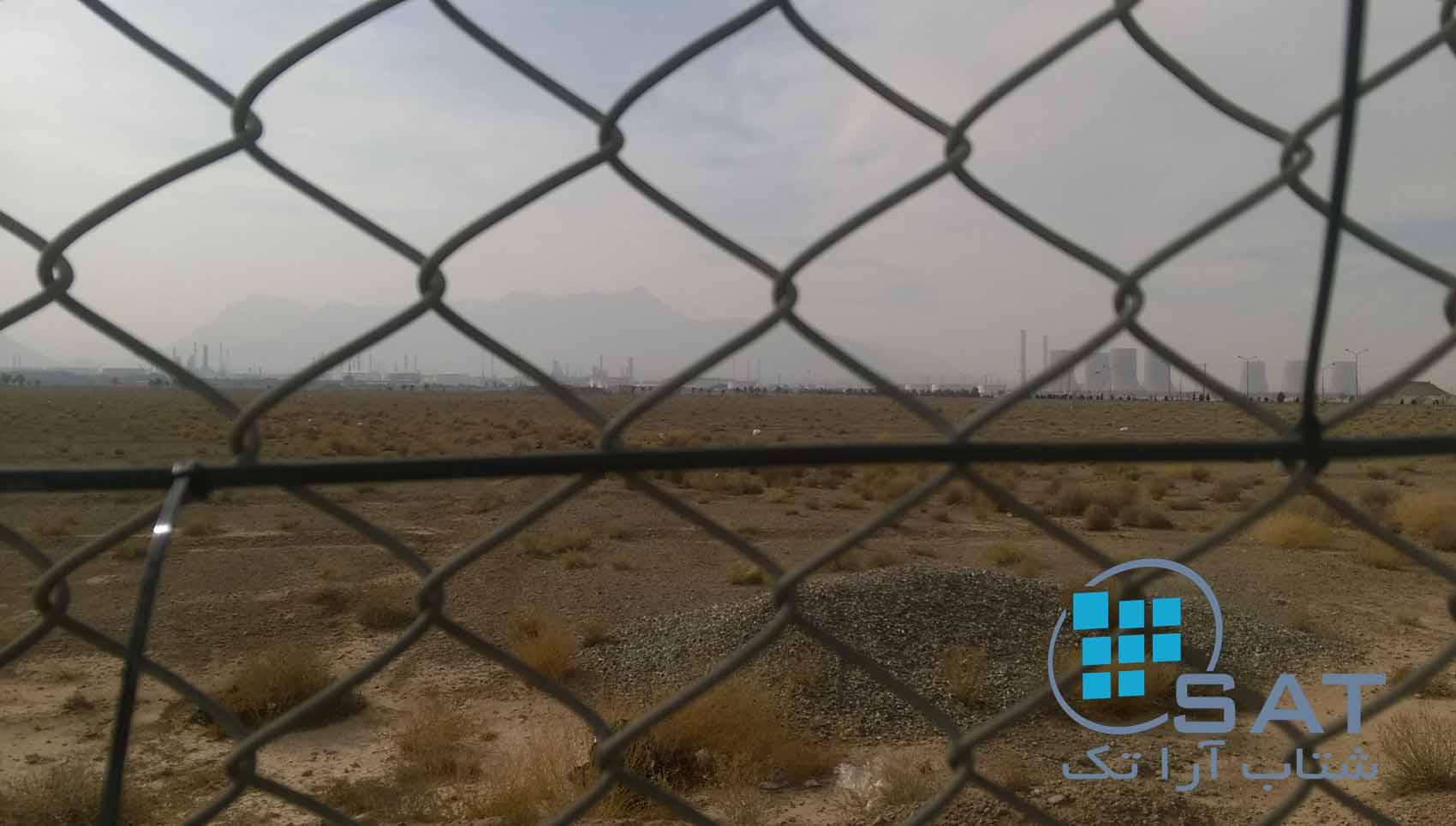 سنسور حفاظت پیرامونی بر روی فنس